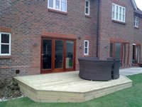 Nice example of a softwood deck