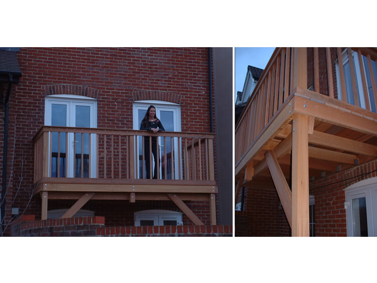 Hardwood Balcony Construction