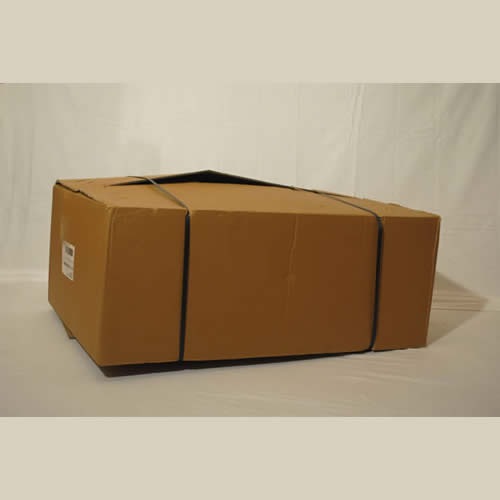 Our courier delivers your go kart in a brown box